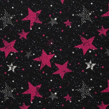 Jersey Sterne pink Swafing 2