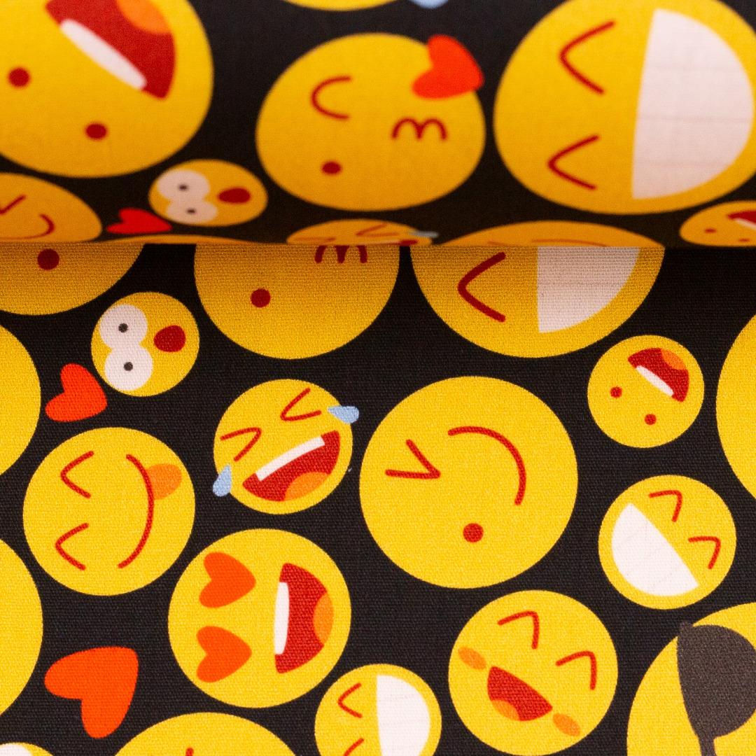 Baumwolle Smileys Emojis Swafing Kim 4