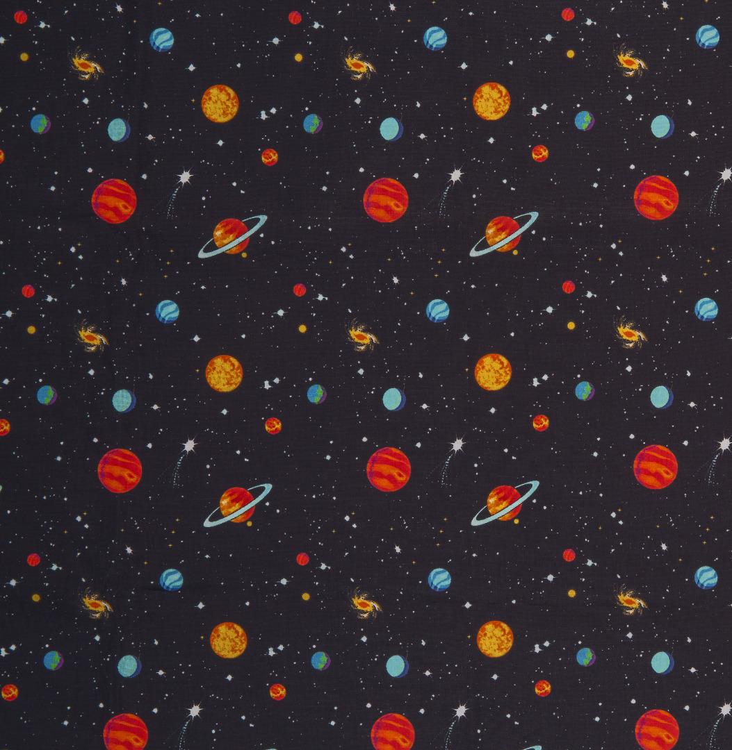 Baumwolle Weltall Weltraum Planeten Sterne 2