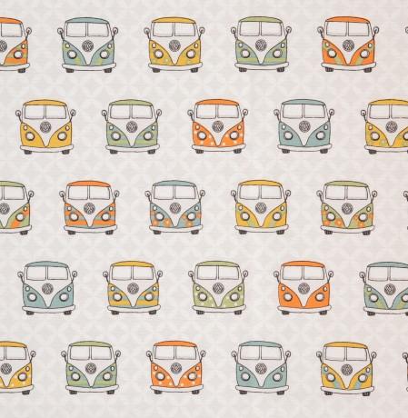 Dekostoff Taschenstoff VW- Bulli 2