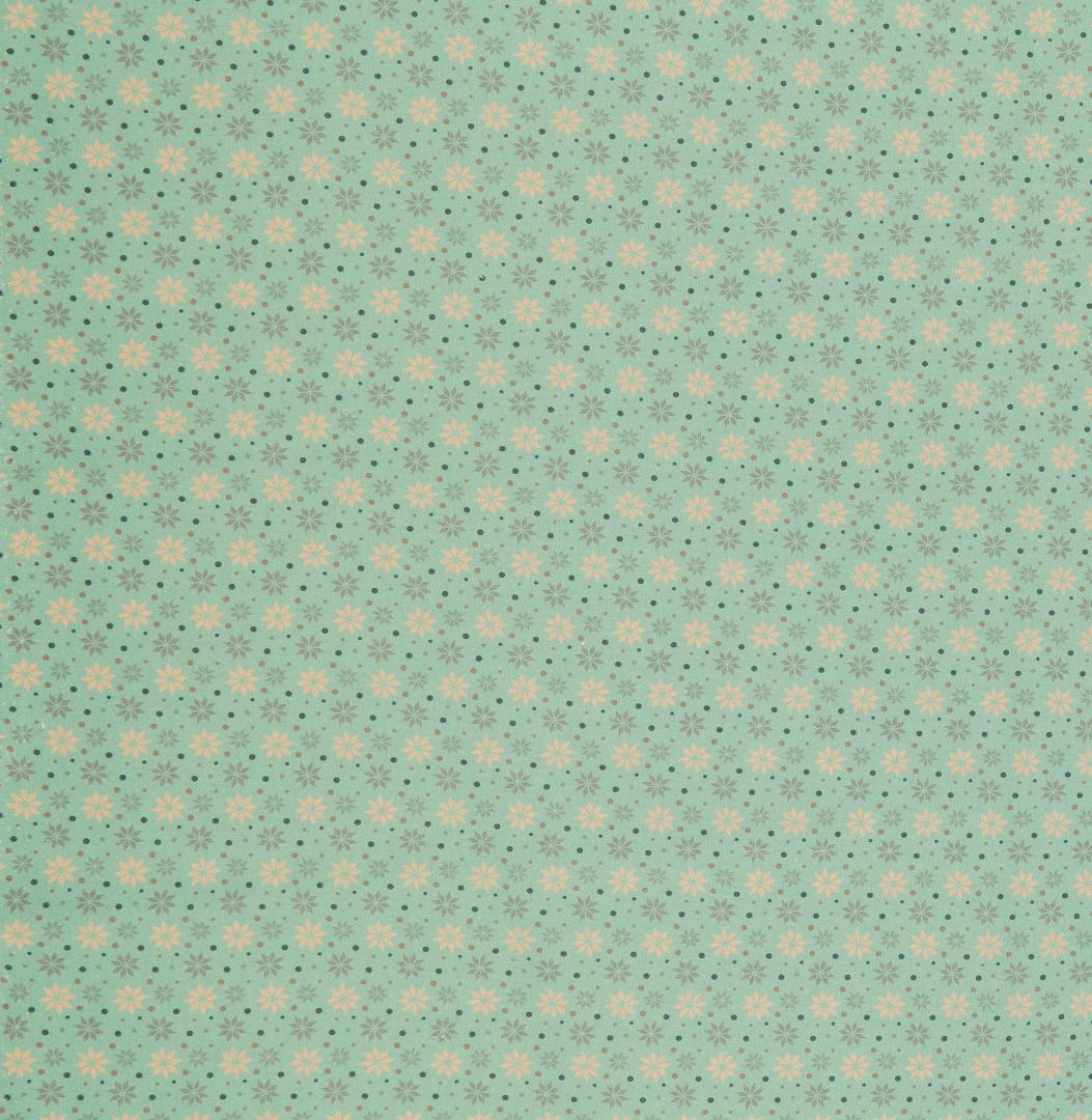 Baumwolle Sterne mint Weihnachtsstoff 2