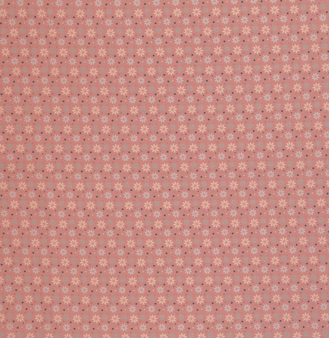 Baumwolle Sterne altrosa Weihnachtsstoff 2