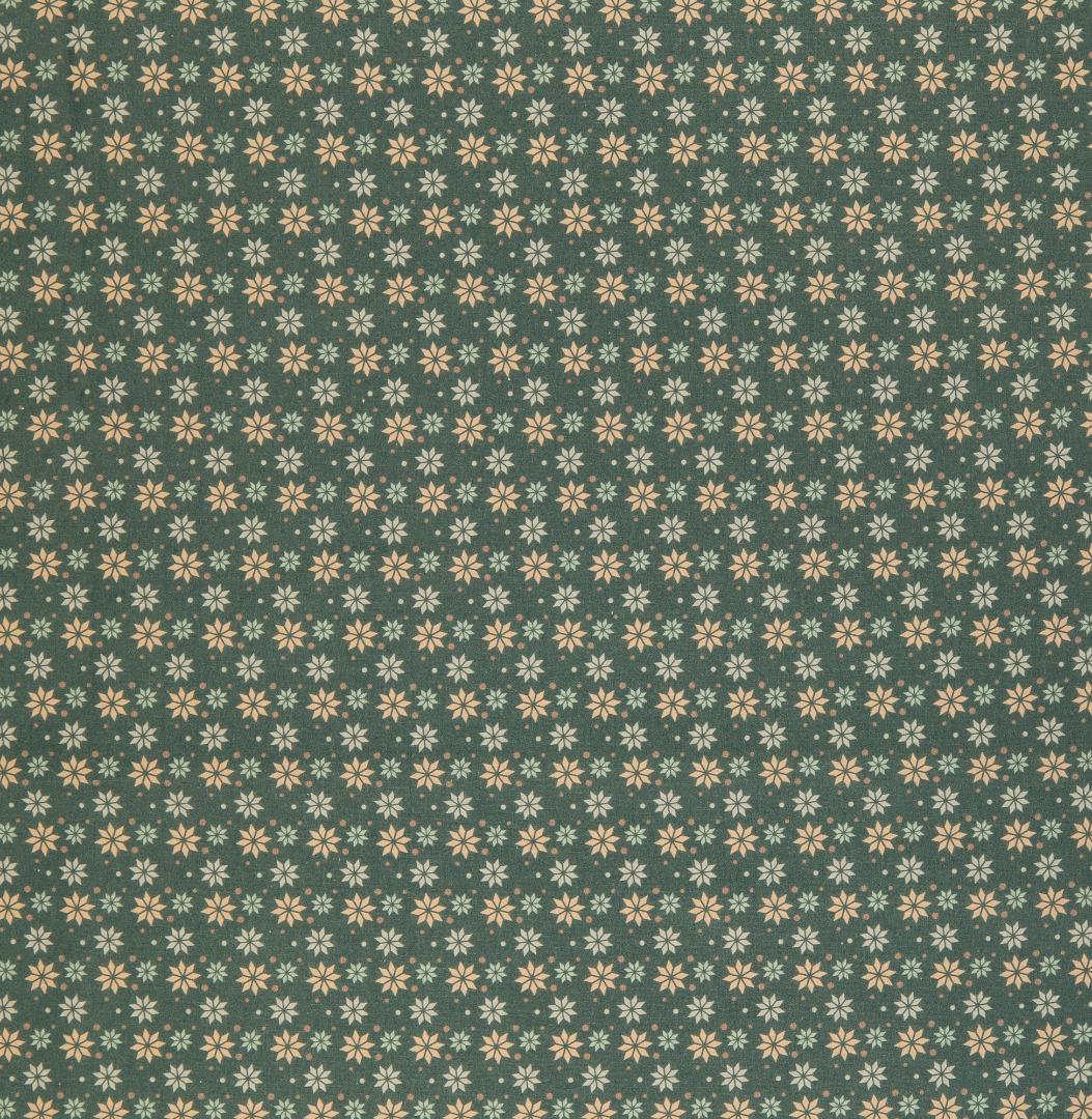 Baumwolle Sterne grün Weihnachtsstoff 2