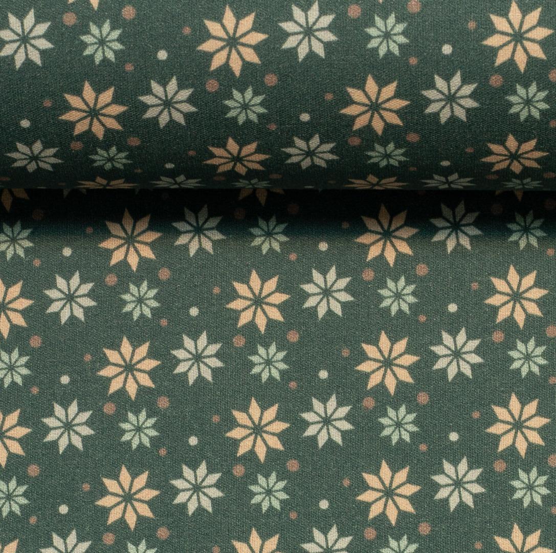 Baumwolle Sterne grün Weihnachtsstoff 3
