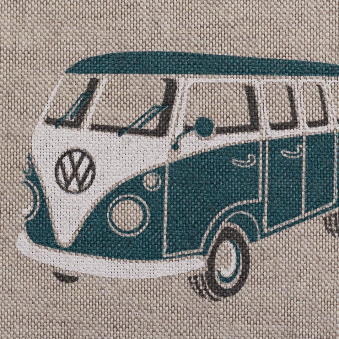 Dekostoff Taschenstoff VW- Bulli petrol 2