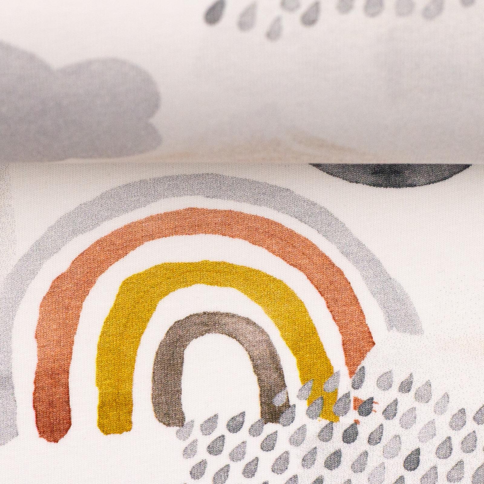 Baumwolljersey let rain again Regenbogen Wolken