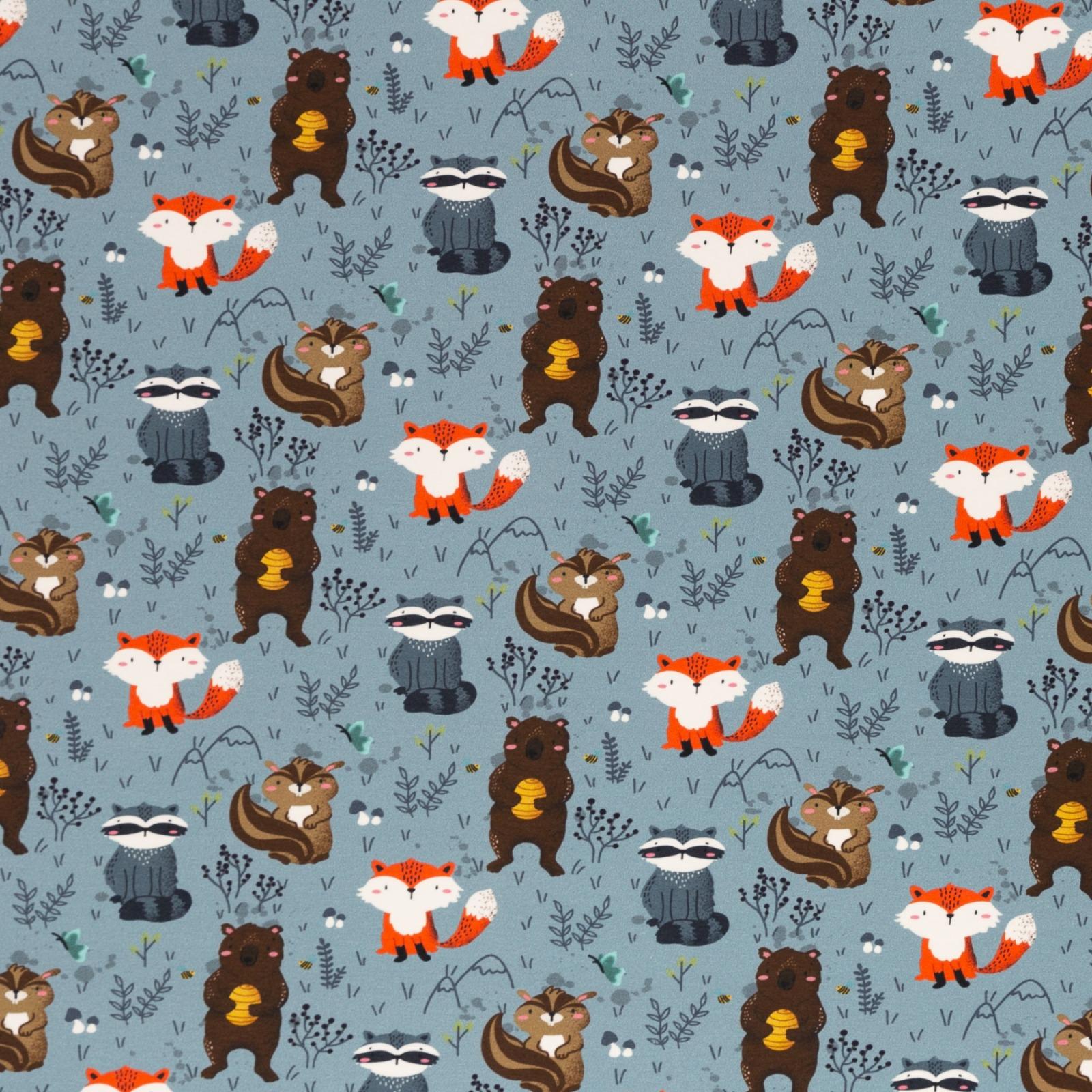 Waldtiere by Zielinksky Jersey Fuchs Waschbär