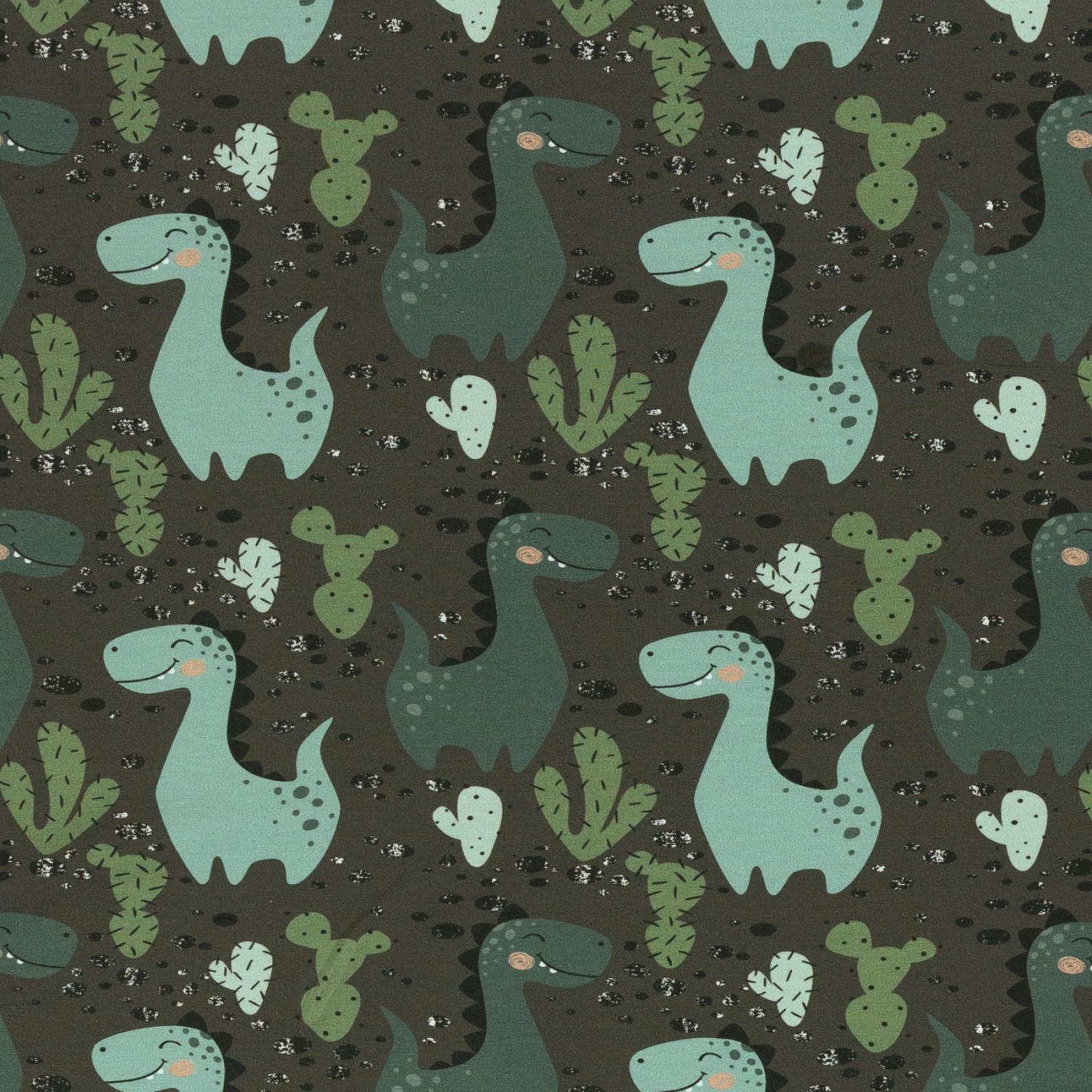 Sweat angeraut Dinosaurier grün Kakteen Swafing
