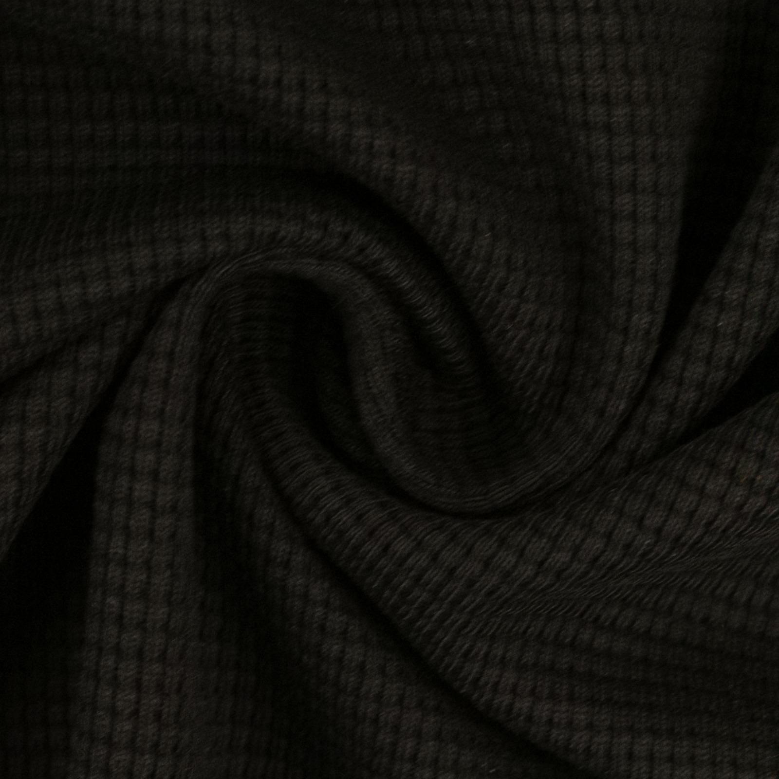 Waffeljersey 100 Baumwolle schwarz 1450 EUR/m