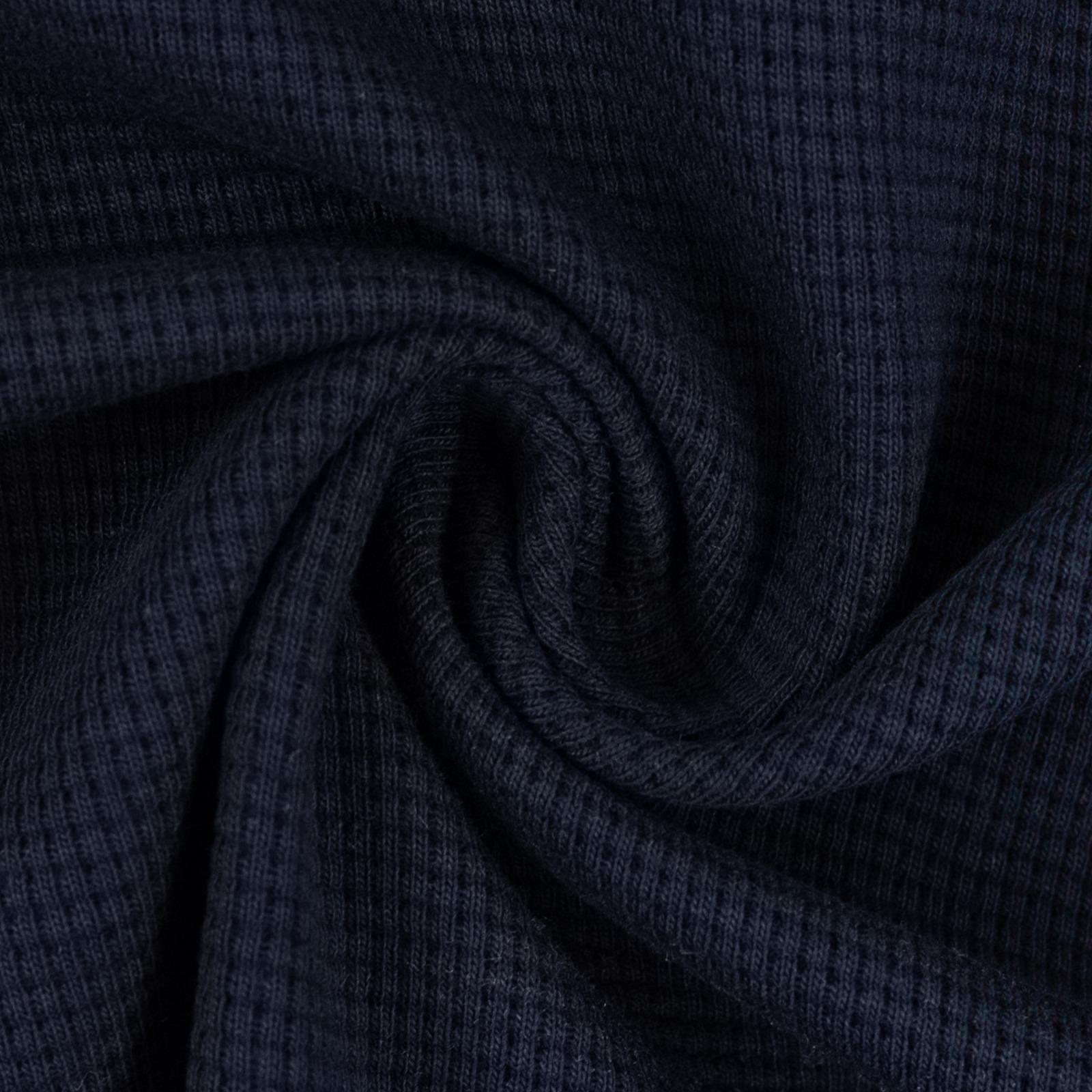 Waffeljersey 100 Baumwolle dunkelblau 1450 EUR/m