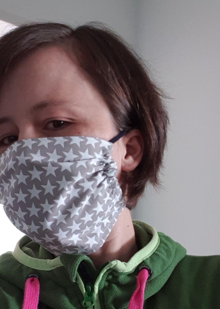 Behelfsmaske Mund- Nase-Maske mit weichen Bändern