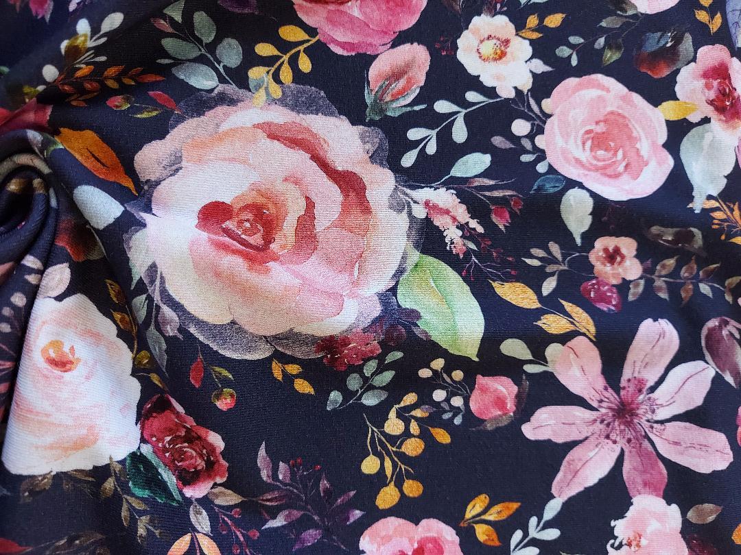Jersey Blumen Aquarell Blumenbouquet