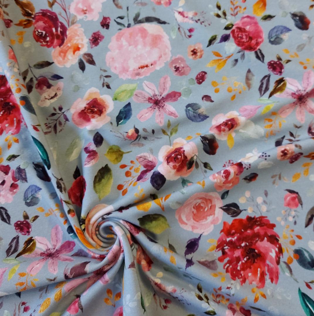 Jersey Blumen Aquarell Blumenbouquet 3