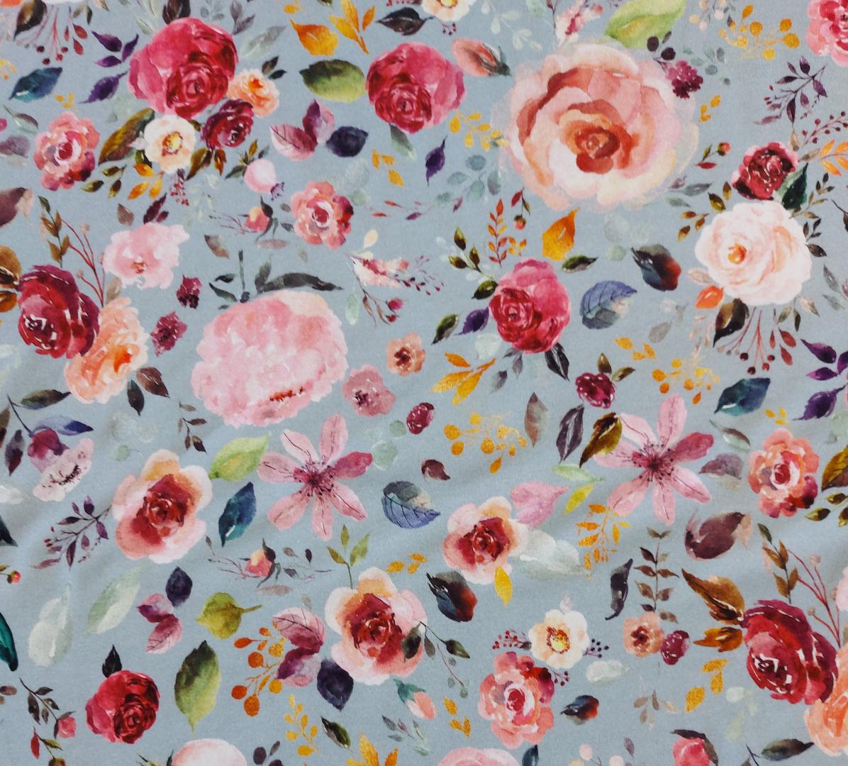 Jersey Blumen Aquarell Blumenbouquet 4