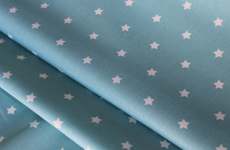 Beschichtete Baumwolle Sterne mint
