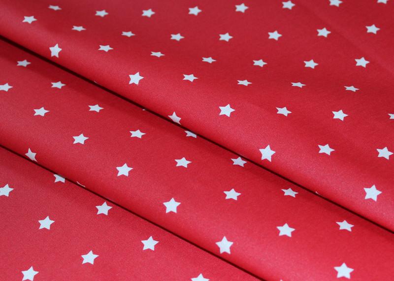 Beschichtete Baumwolle Sterne rot - 1