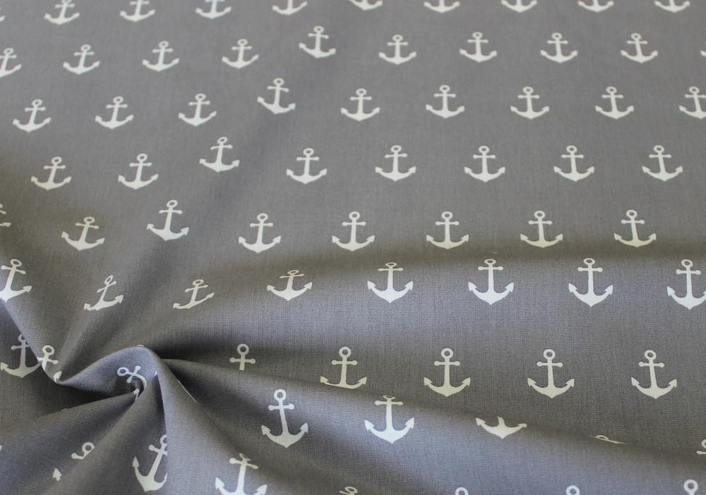Baumwolle Anker grau