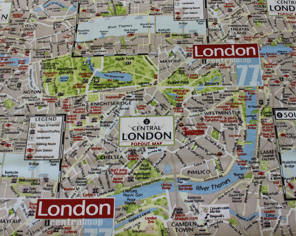 Dekostoff Taschenstoff London