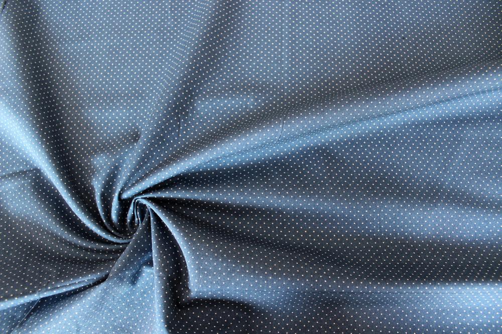 Baumwolle Pünktchen Patchworkstoff Punkte blau