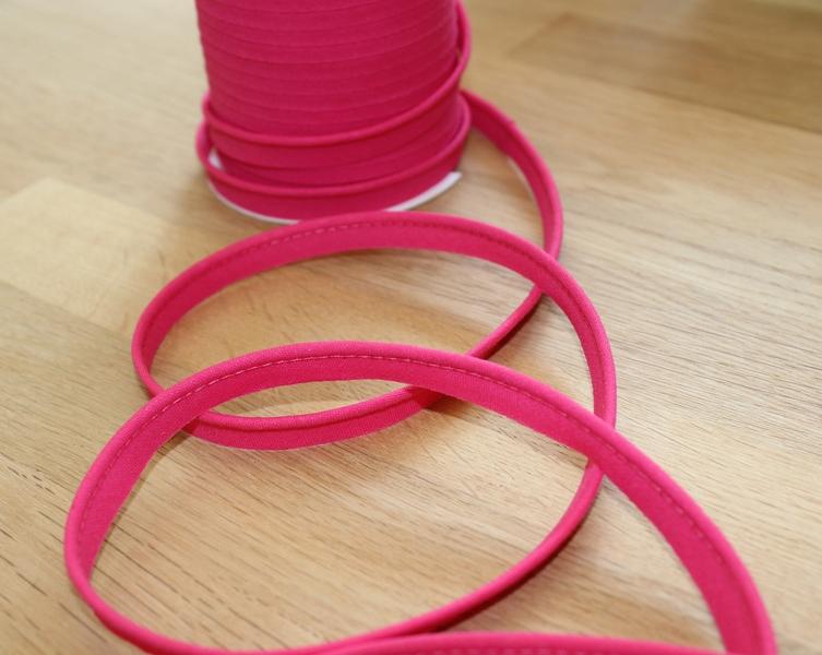 1m Paspelband uni 10mm pink - 1
