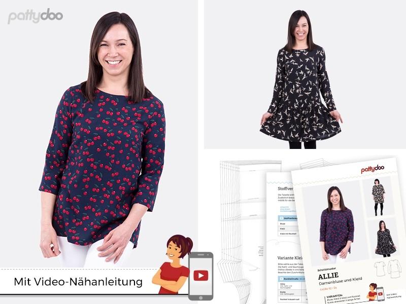Schnittmuster Bluse & Kleid Allie/ pattydoo | paulinaskleinewelt