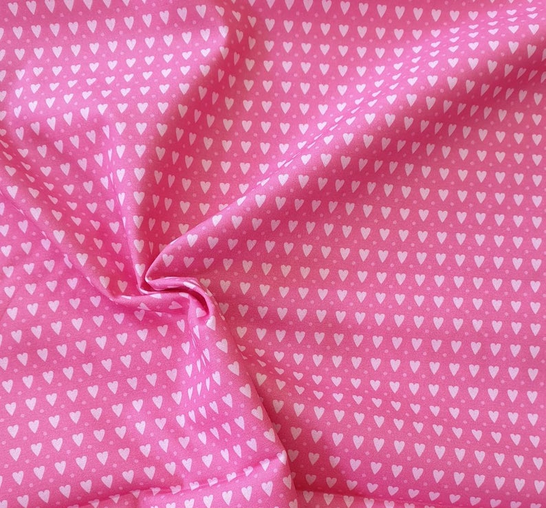 Baumwolle kleine Herzen rosa Swafing