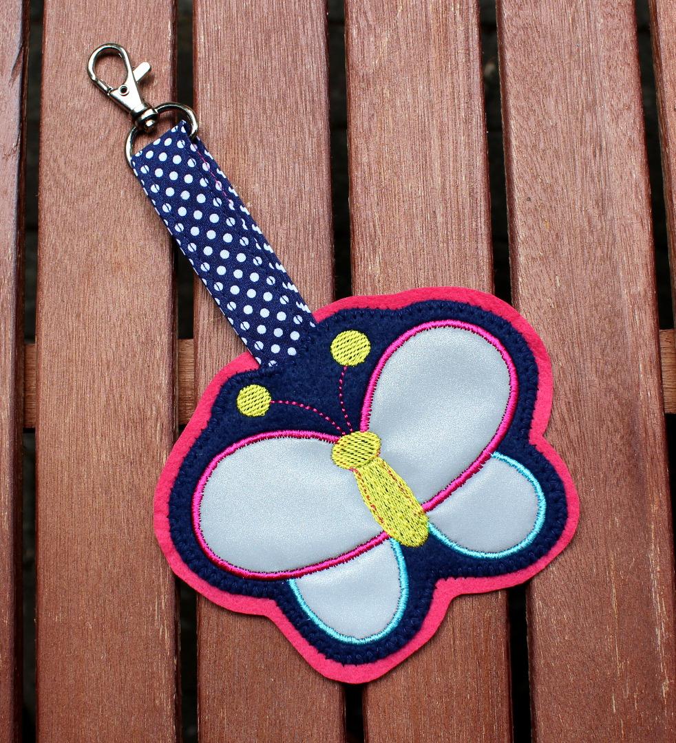 2er Set Klett Patch Schmetterling und