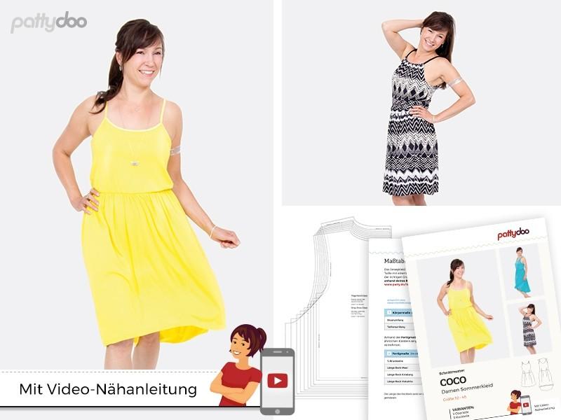 Schnittmuster Kleid Coco/ pattydoo Trägerkleid | paulinaskleinewelt
