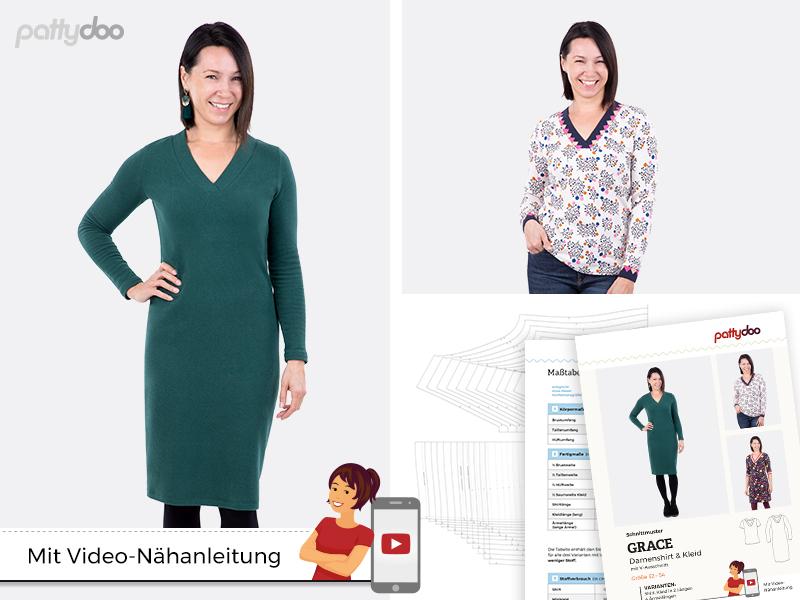 Schnittmuster KLeid/ Shirt Grace/ pattydoo