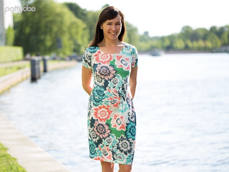 Schnittmuster Kleid Amelie / pattydoo Knotenkleid