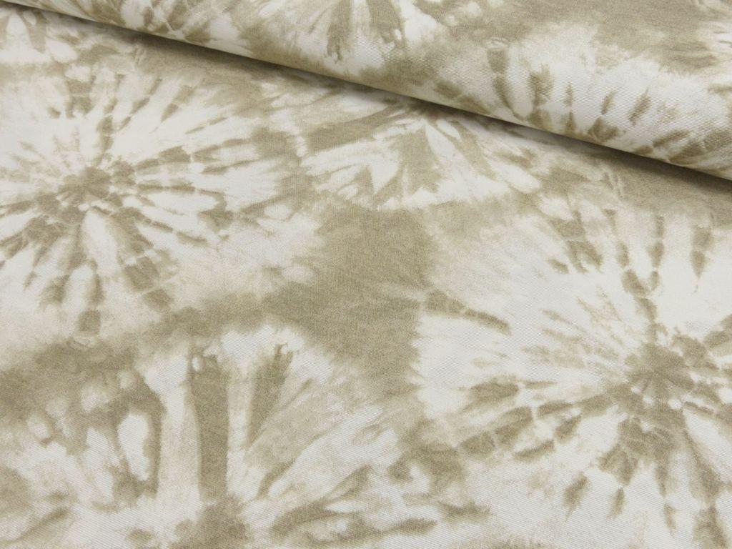 Dekostoff Batik Boho Batikoptik Taschenstoff beige