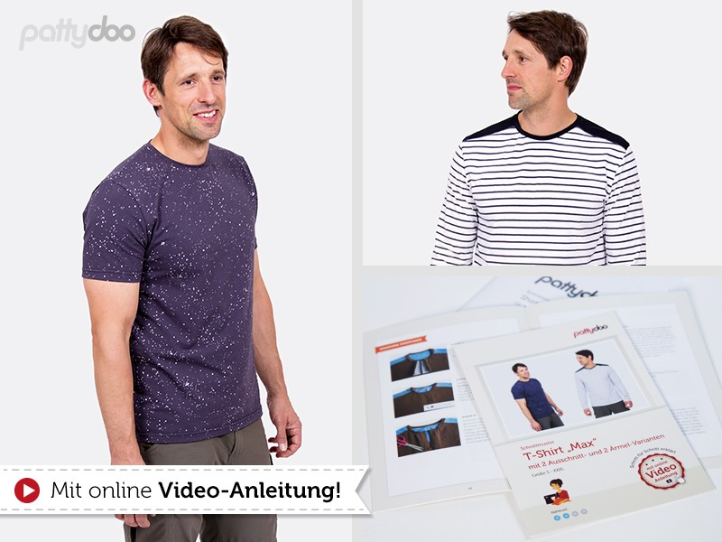 Schnittmuster Max Herrenshirt / pattydoo | paulinaskleinewelt