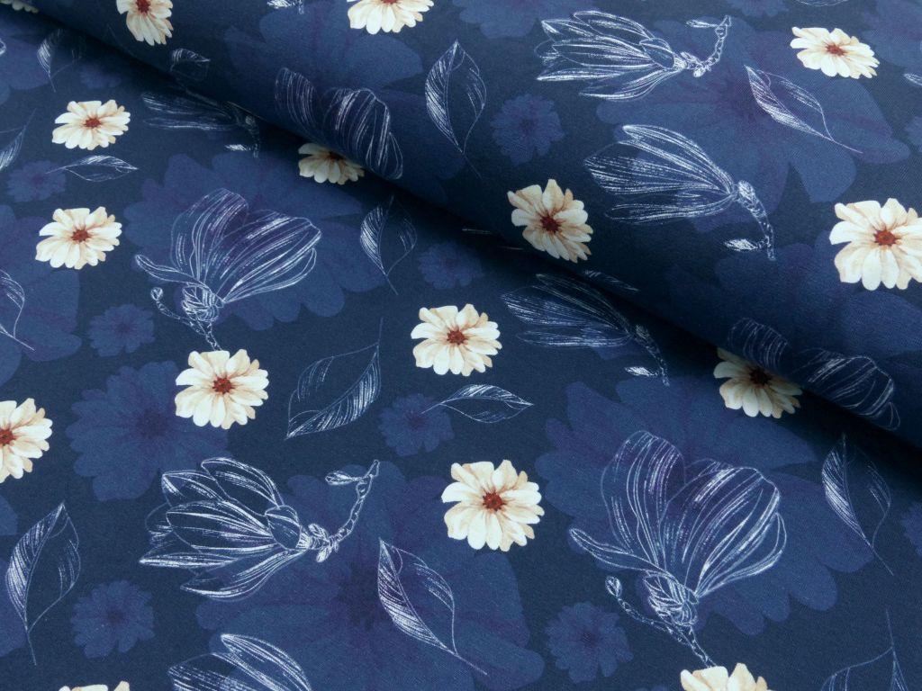 Jersey Blumen blau Maya by Liebefein