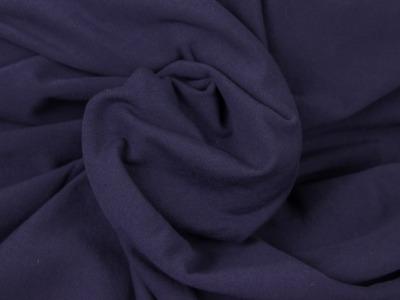 Sweat angerauht uni marine/ dunkelblau kuschelig