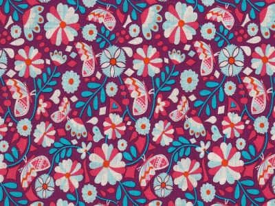 Butter Bloom by jolijou Swafing exclusive, lila - florale Baumwollwebware für alle Gelegenheiten