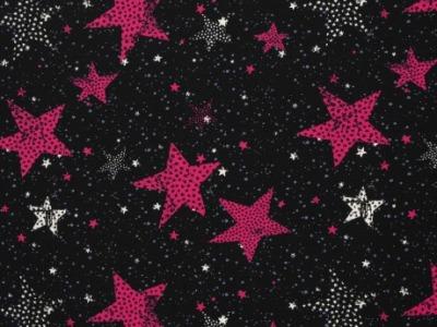 Jersey Sterne pink Swafing