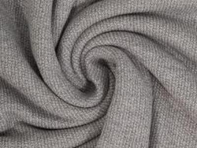 Strickstoff Marvin Swafing grau - Toller leichter Baumwollstrick, perfekt geeignet für Cardigans und Oversize- Pullis