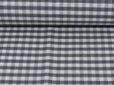 Beschichtete Baumwolle Vichykaro 5mm grau weiß