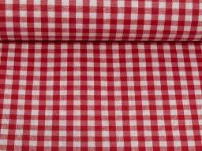 Beschichtete Baumwolle Vichykaro 5mm rot weiß