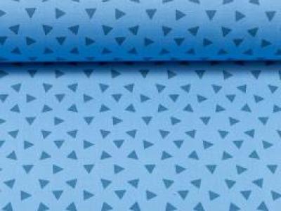 Baumwolle kleine Dreiecke blau