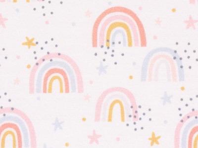Baumwolle Baumwolle Regenbogen Swafing Kim beige