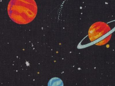 Baumwolle Weltall Weltraum Planeten Sterne