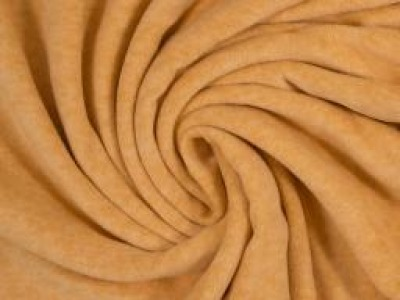 Wellnessfleece Fleece meliert ocker senfgelb - Kuscheliger geht es nicht