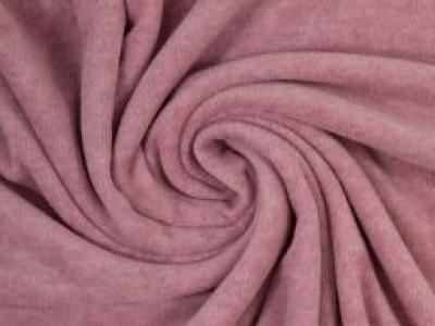 Wellnessfleece Fleece meliert altrosa - Kuscheliger geht es nicht