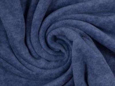 Wellnessfleece Fleece meliert blau - Kuscheliger geht es nicht