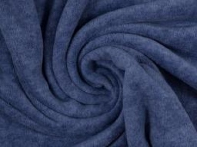 Wellnessfleece Fleece meliert blau Kuscheliger geht