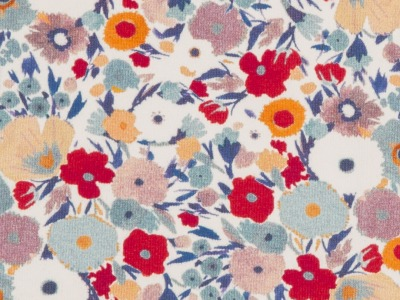 Jersey Blumen Swafing beige