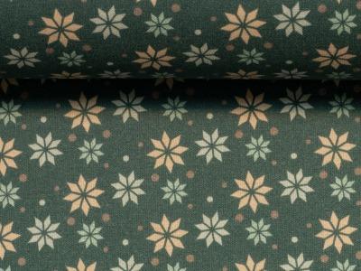Baumwolle Sterne grün Weihnachtsstoff