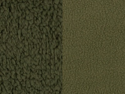 Doubleface Fleece Tamme Eur/m olivgrün khaki