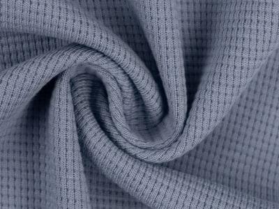 Waffeljersey 100 Baumwolle rauchblau 1450 EUR/m
